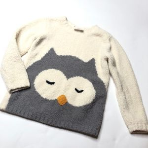 Hanna Andersson Girl's Owl Sweater Sz Small
